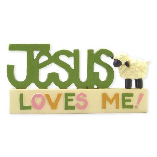 Jesus on Block w/Sheep