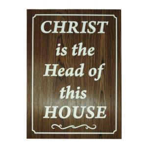 Christ is the head of this House – Engraving 14×19 Teak Wood Veneer mdf